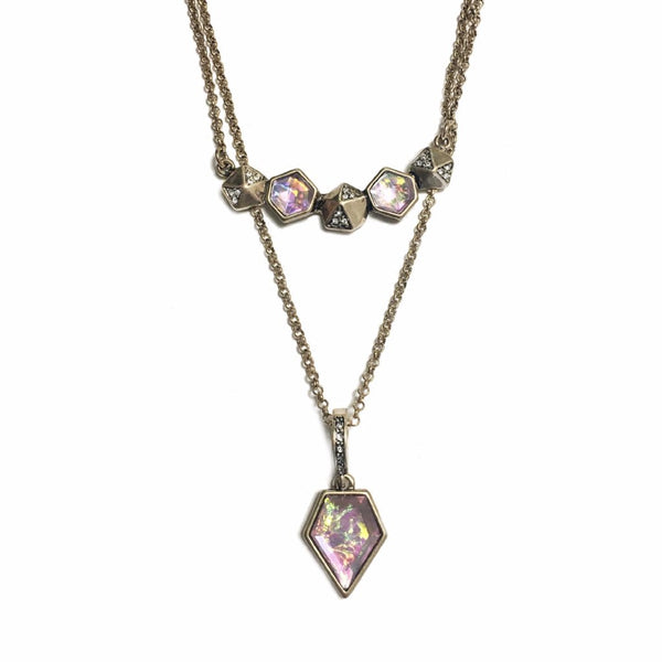 Antique Shining Stone Layered Necklace - MenriThings