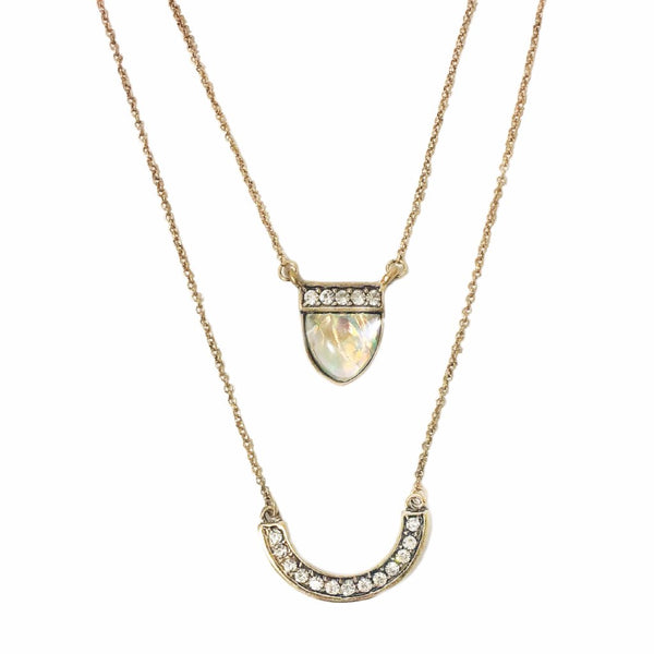 Antique Layered Rhinestone Necklace - MenriThings