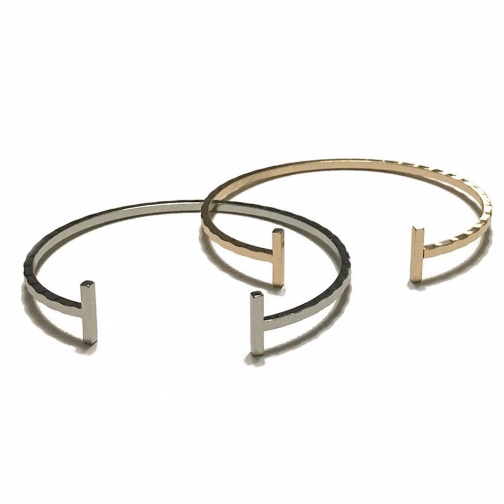 Thin Indented Bangle