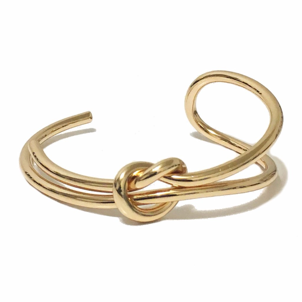 Abstract Bangle in Gold