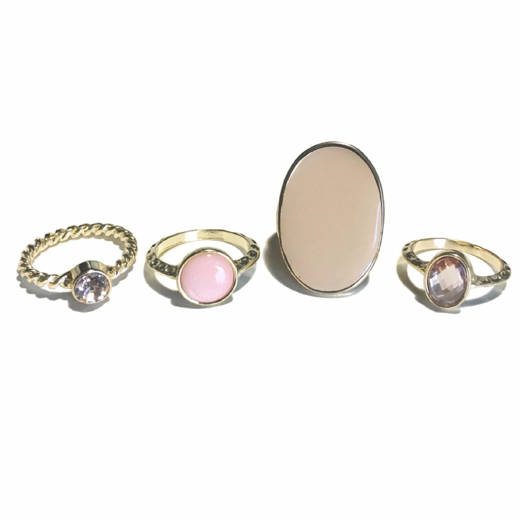 Pink Themed Ring Set