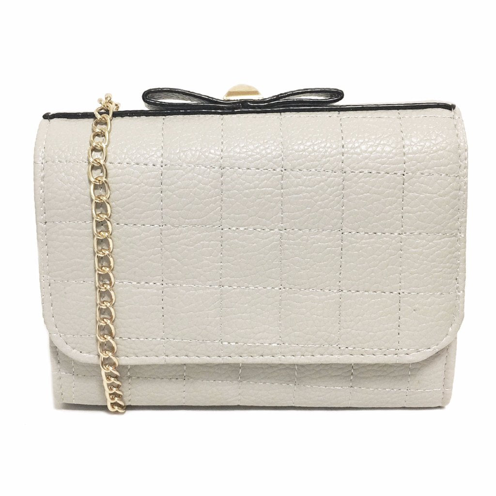 Light Grey Soft Chessboard Crossbody