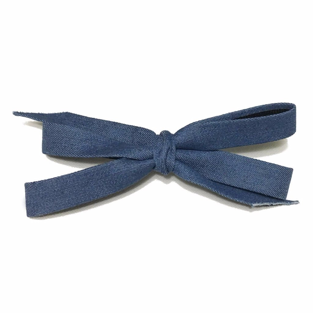 Blue Butterfly Bow Clip