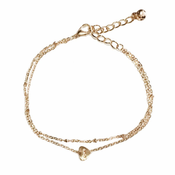 Double Layer Heart Anklet