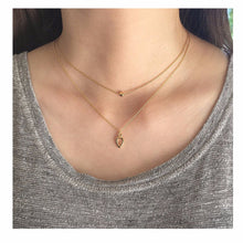 Layered Drop Pendant Necklace