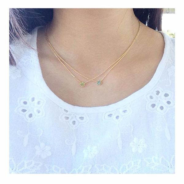 Thin Rhinestone Necklace - MenriThings