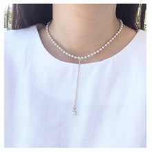 Linked Faux Pearl Necklace