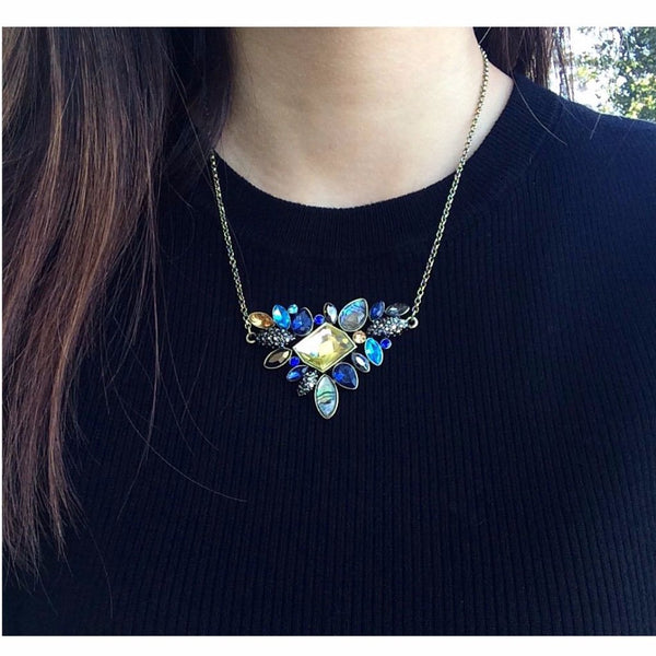 Ornate Precious Gemstone Necklace - MenriThings