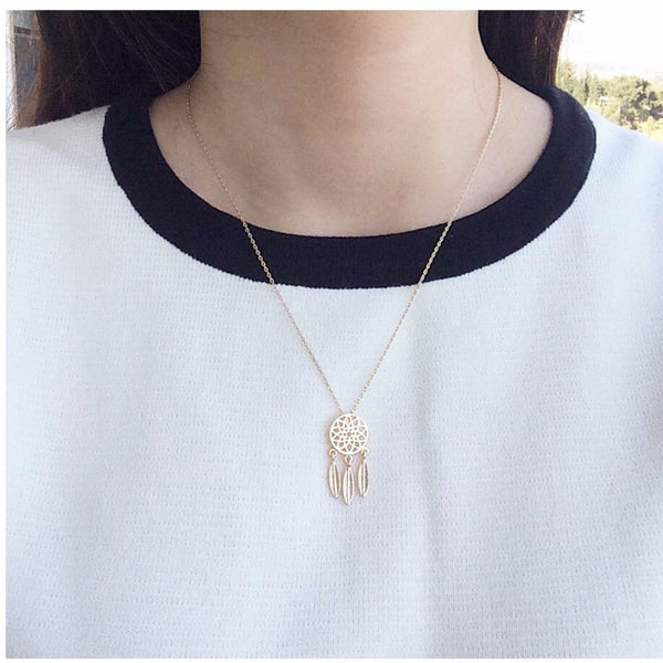 Dreamcatcher Drop Necklace - MenriThings