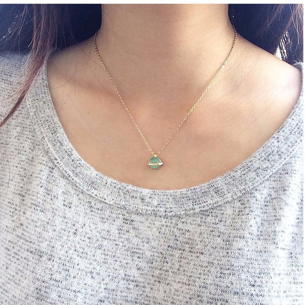 You Are My World Necklace - MenriThings
