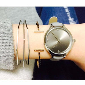 Skinny Grey Analog Watch