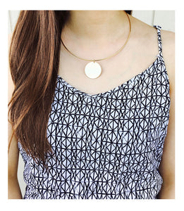 Disk Collar Necklace