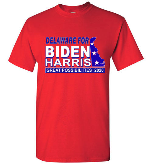 Biden Harris 2020 Election TShirt-Delaware Red