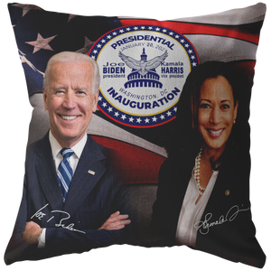 Biden  Harris  Inauguration Signature Souvenir Pillow