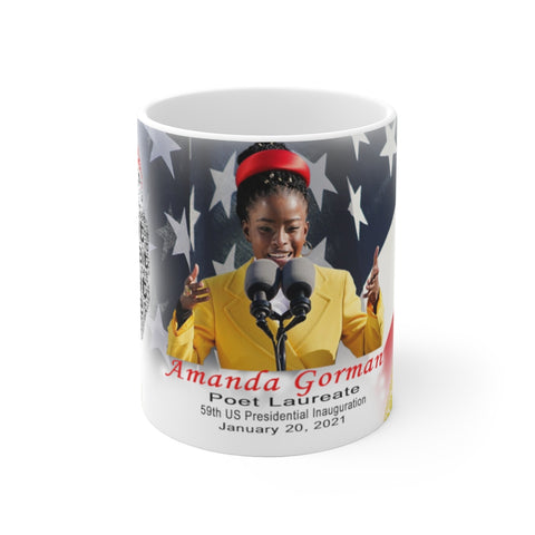 "Amanda Gorman ""The Hill We Climb"" Souvenir Mug -2-in-1 Original Design"
