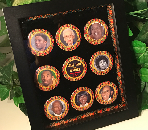 Black History-Remembering in 2021 Keepsake Button Collection- Uniquely Designed