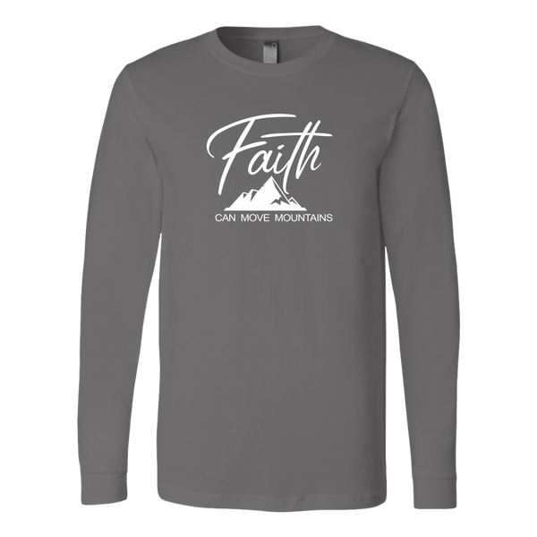Tee-LongSleeve-Faith Can Move Mountains