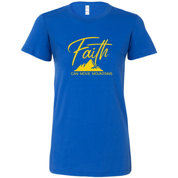 Tee- Short Sleeve Classic Women's Cut- Faith Can Move Mountains