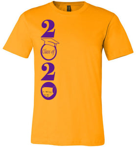 Class of 2020 T-Shirt with Purple Text