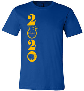 Class of 2020 T-Shirt with Gold Text