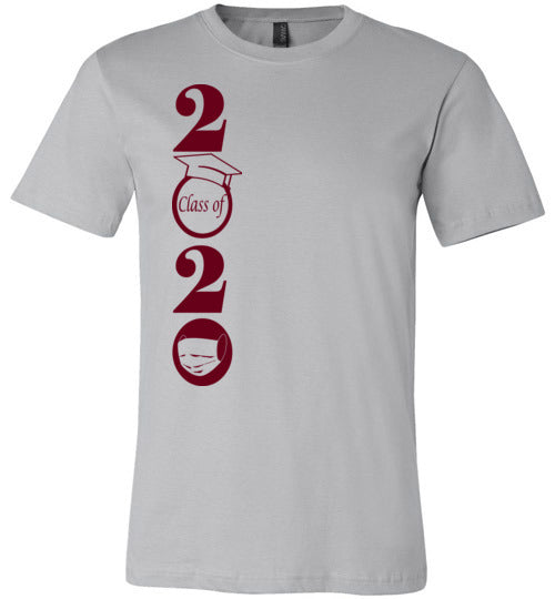 Class of 2020 T-Shirt with Maroon Text