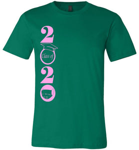 Class of 2020 T-Shirt with Pink Text