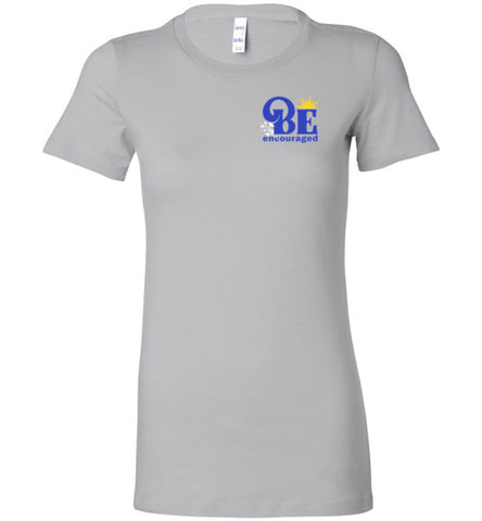 Tee-Ladies Cut-Be Encouraged-BlueTxt