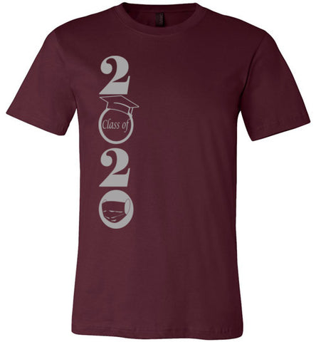 Class of 2020 T-Shirt with Silver/Grey Text