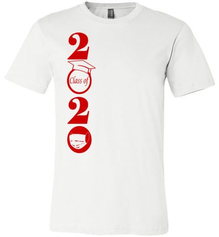 Class of 2020 T-Shirt with Red Text