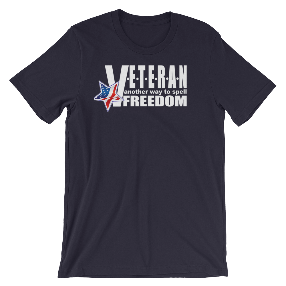 V-E-T-E-R-A-N Unisex T-Shirt-Dark colors
