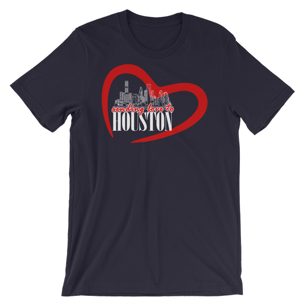 Hurricane Harvey- Houston Love Project T-Shirts (Unisex Dark Colors)