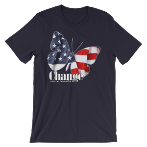 CHANGE- Patriotic Butterfly T-Shirt- Unisex-Dark Colors