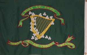 3' X 5' HEAVY DUTY 600D SONS OF ERIN FLAG - SEWN & EMBROIDERED DETAILS
