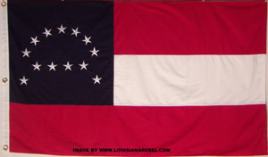 Image of Robert E Lee headquarters cotton flag