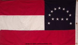 2'X3' COTTON ROBERT E LEE HEADQUARTERS FLAG - EMBROIDERED & SEWN DETAILS