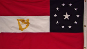 Cotton 1st National 11 Star Irish Flag