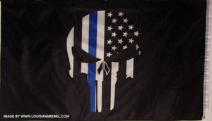 PUNISHER BLUE LINE FLAG