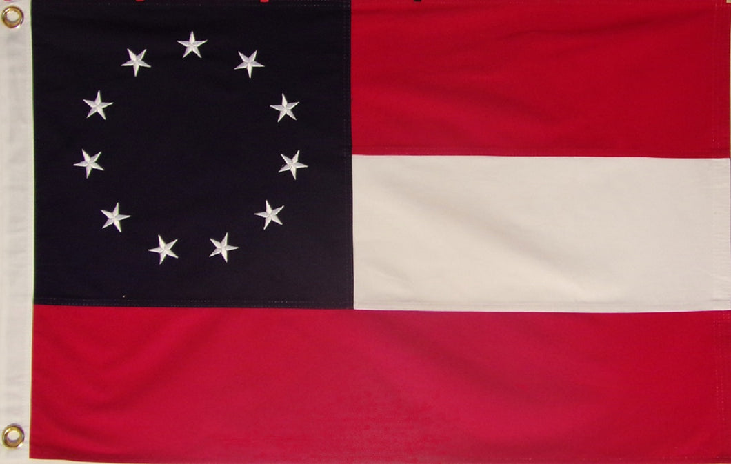 Heavy Cotton 11 Star Confederate Flag - Mosby or Mosby's Rangers flag