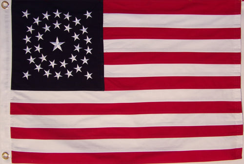 2' X 3' Cotton 34 Star American Flag