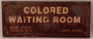 Vintage iron Waiting Room Sign.