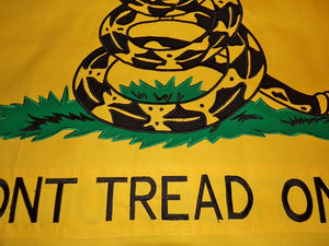 Cotton Gadsden flag - double sided embroidered and sewn