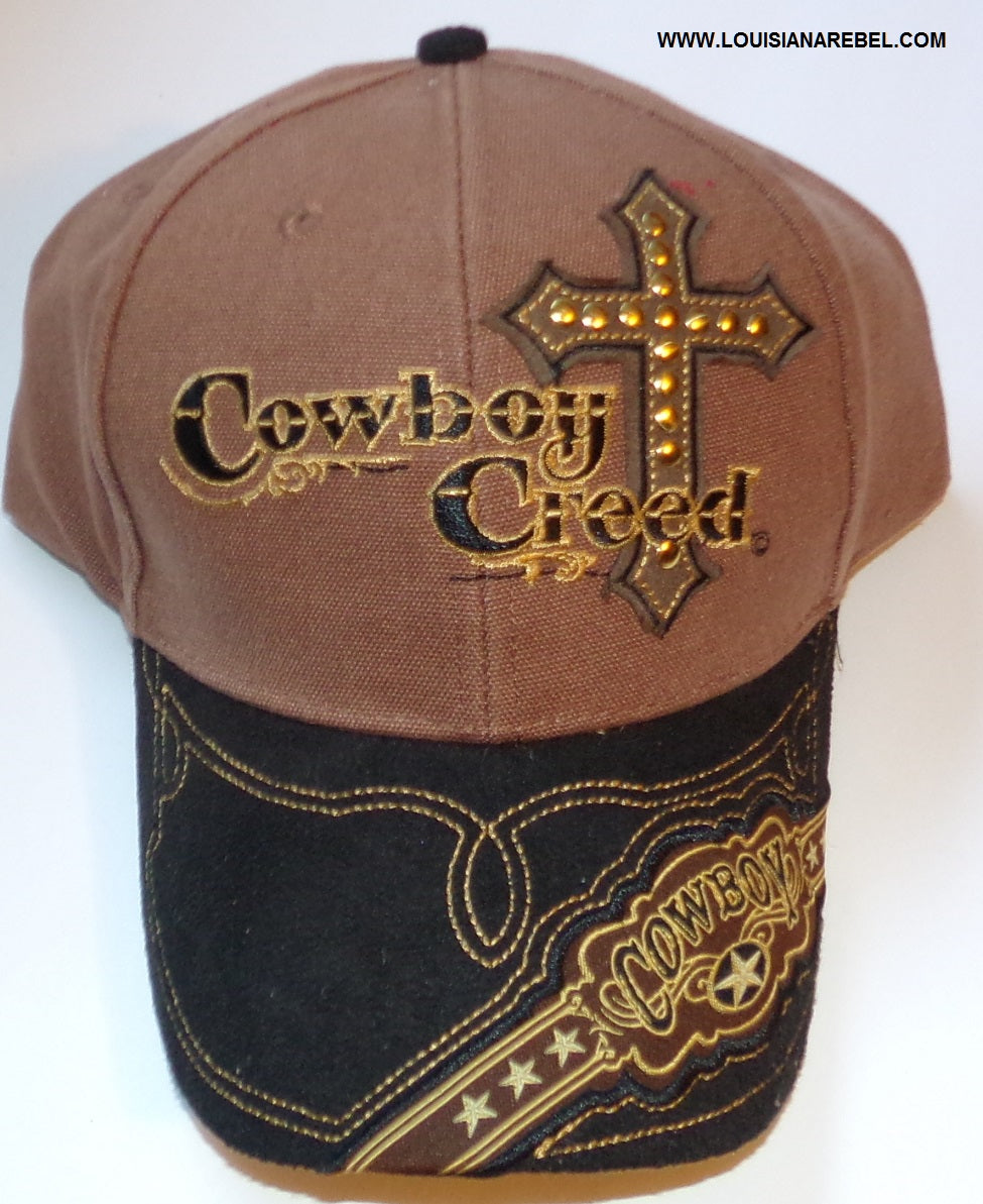 Cowboy Creed cap with Christian cross