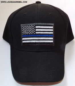 Thin Blue Line USA flag cap - Police support