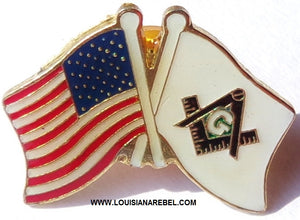 USA FLAG MASONIC FLAG HATPIN