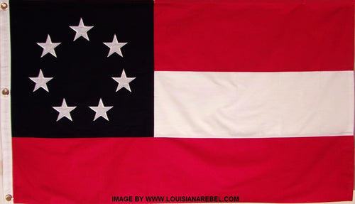 COTTON FIRST NATIONAL CONFEDERATE FLAG - 1ST STARS AND BARS