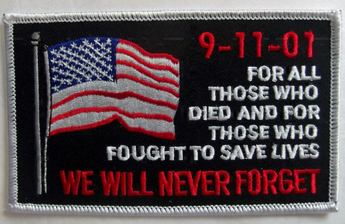 9 / 11 patch - We Will Never Forget