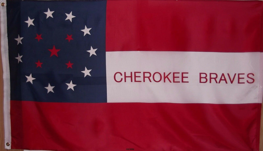 CHEROKEE BRAVES CONFEDERATE FLAG