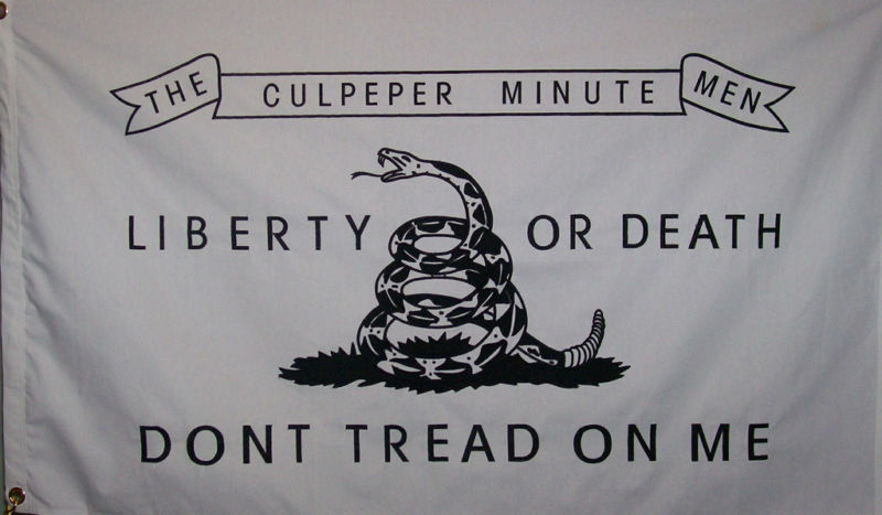 HEAVY DUTY COTTON CULPEPER MINUTEMEN FLAG