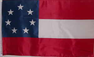 FIRST NATIONAL CONFEDERATE FLAG - 1ST STARS AND BARS