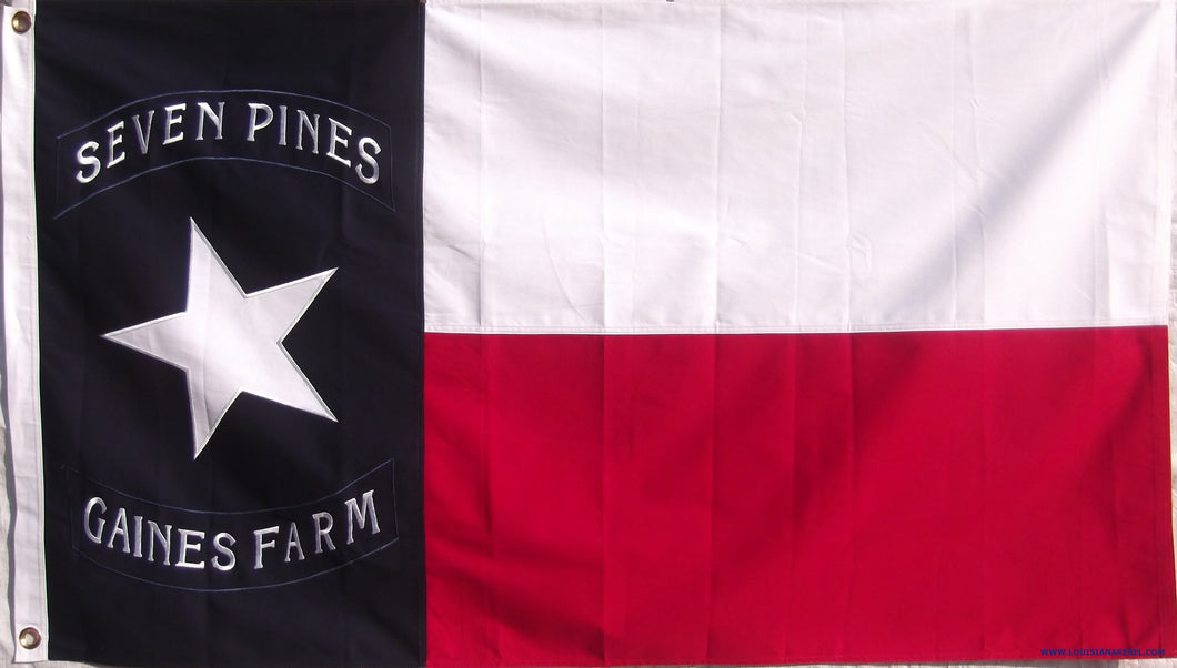 Cotton Hoods Texas Brigade Flag - Seven Pines - Gains Farm Confederate